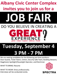 albany civic center complex job fair albany area chamber of commerce